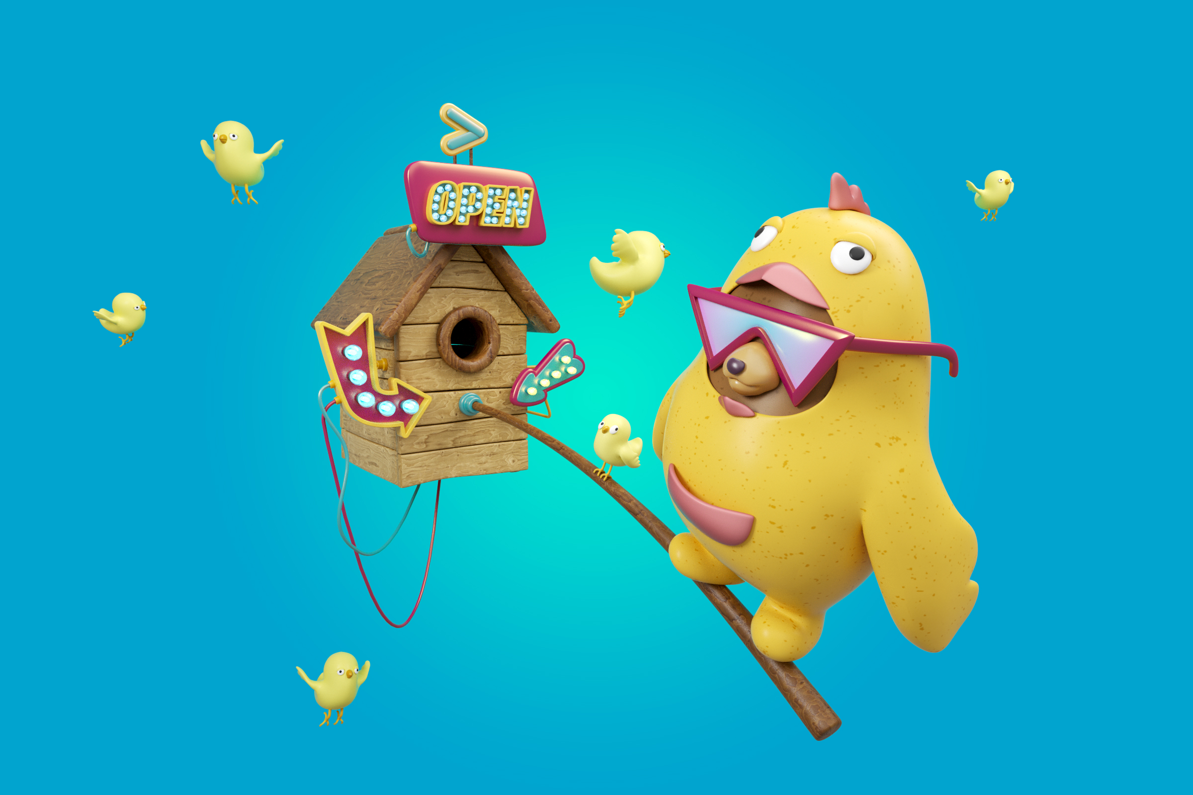 YIPPIEHEY_3d_illustration_nevaly_birdhouse