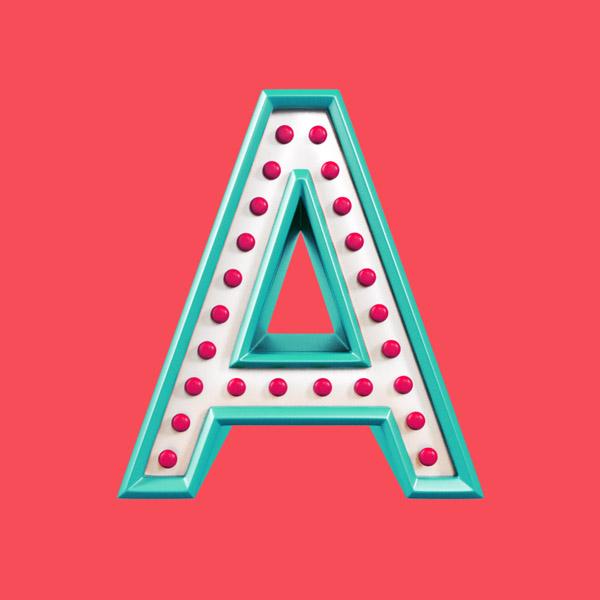 YIPPIEHEY_Samsung_A_3d-Letters_bulbs