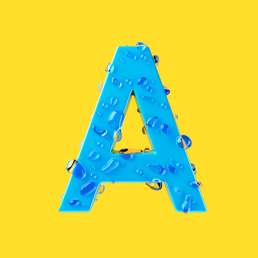 YIPPIEHEY_Samsung_A_3d-Letters_drops