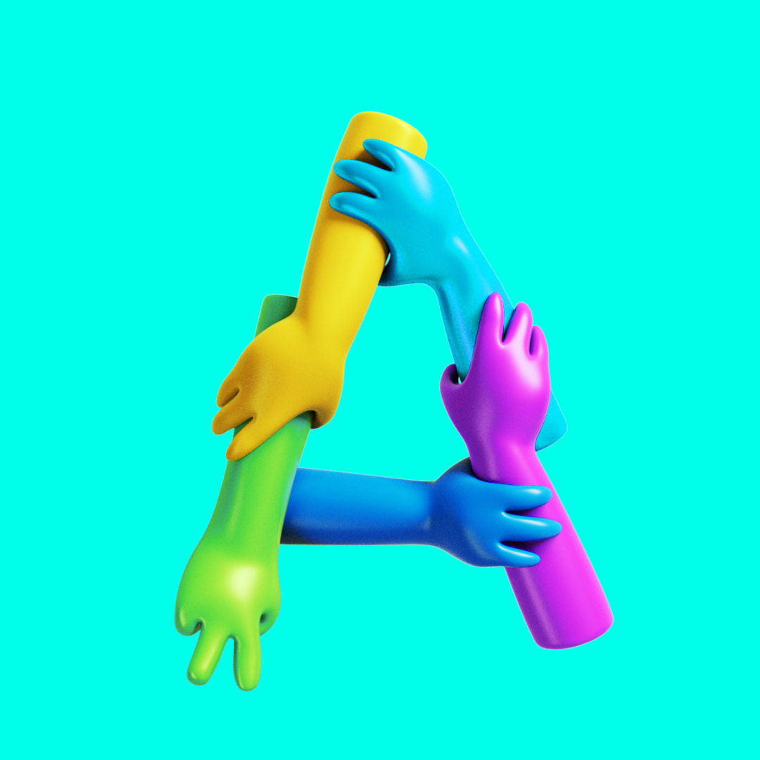 YIPPIEHEY_Samsung_A_3d-Letters_hands