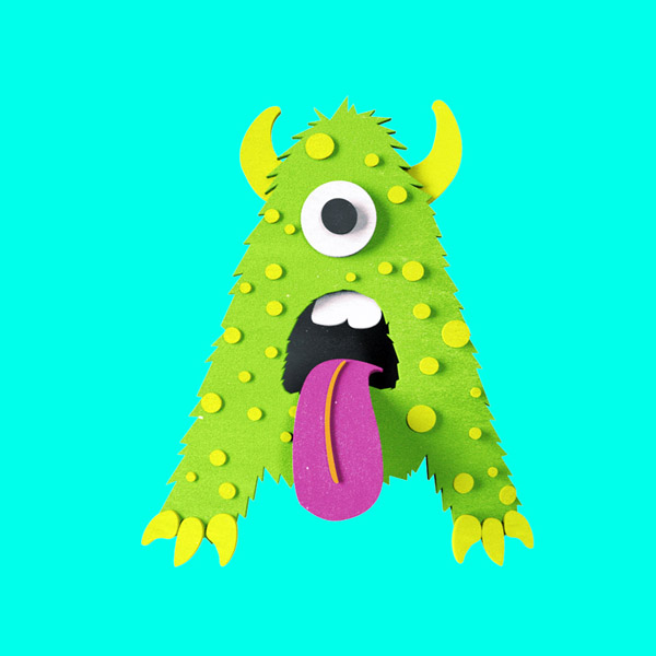 YIPPIEHEY_Samsung_A_3d-Letters_monster