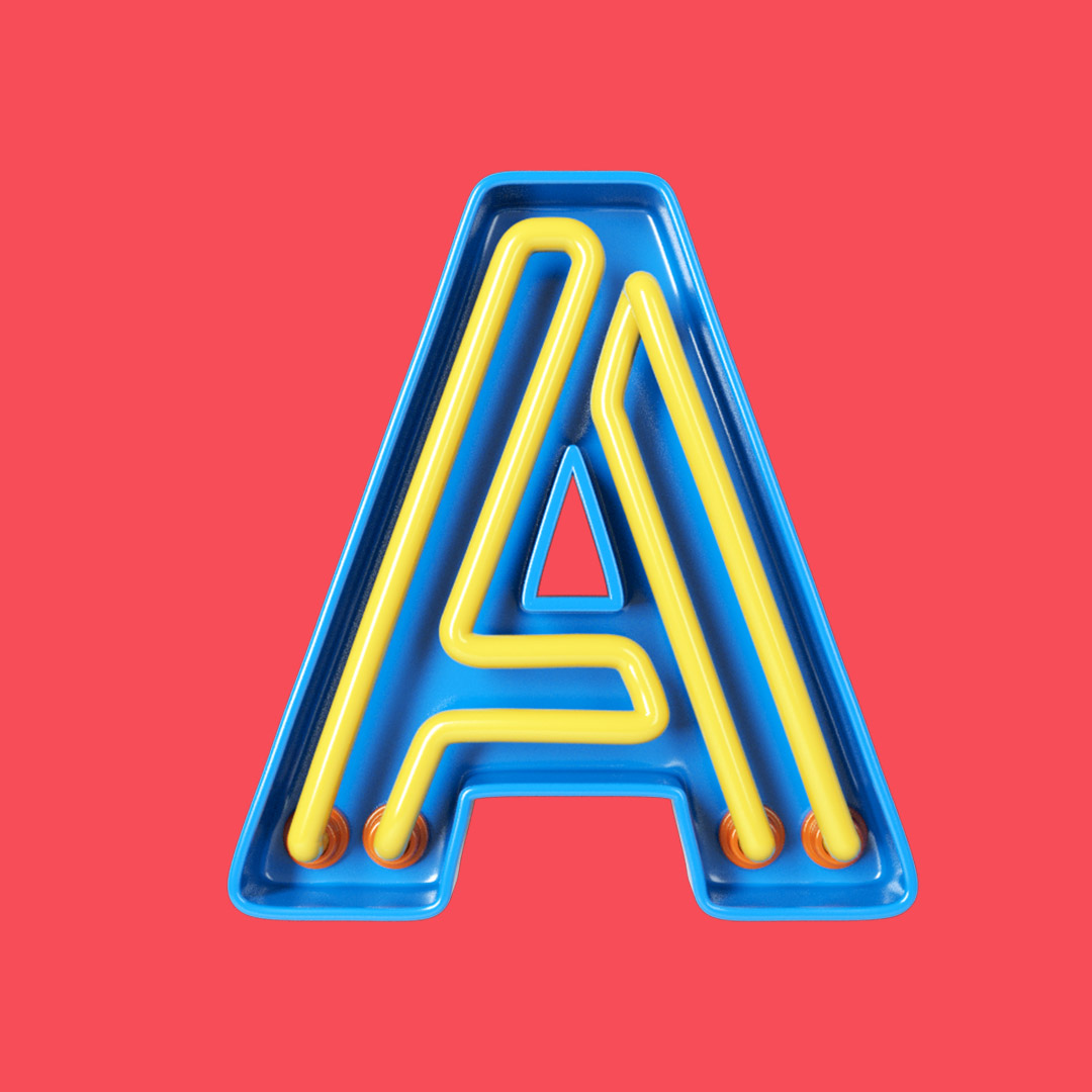 YIPPIEHEY_Samsung_A_3d-Letters_neon