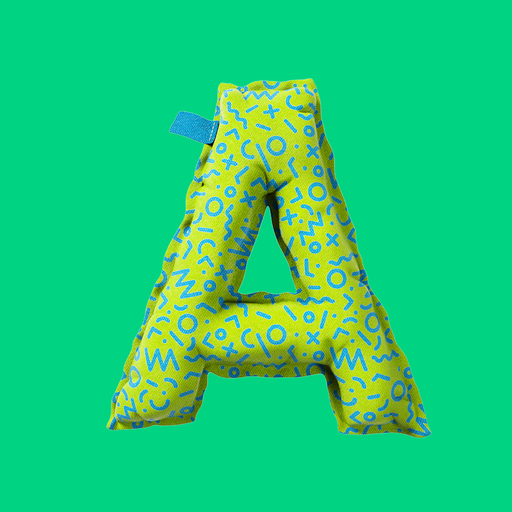 YIPPIEHEY_Samsung_A_3d-Letters_pillow