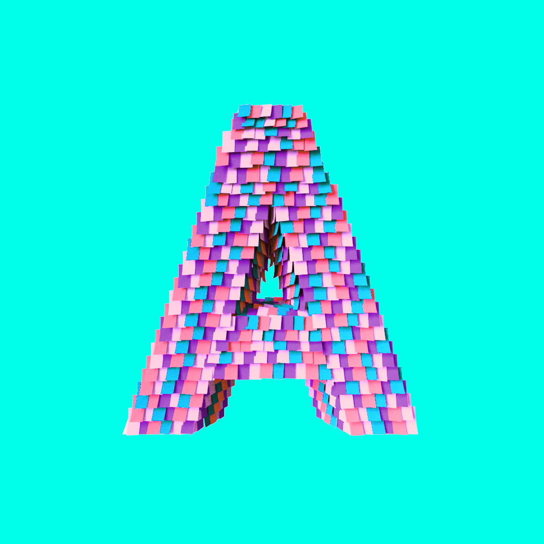YIPPIEHEY_Samsung_A_3d-Letters_pinata
